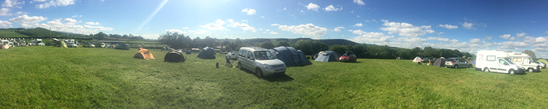 Hay Festival Camping